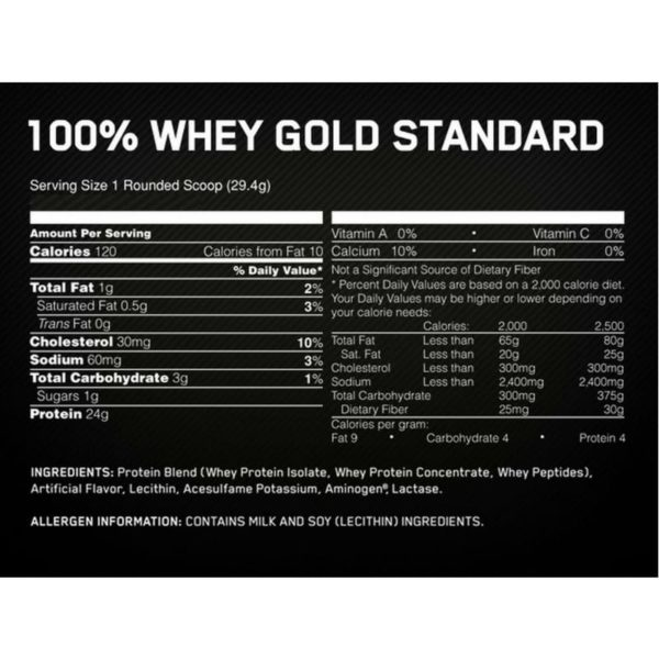 Optimum Nutrition 100 % Whey Gold Standard 908 г