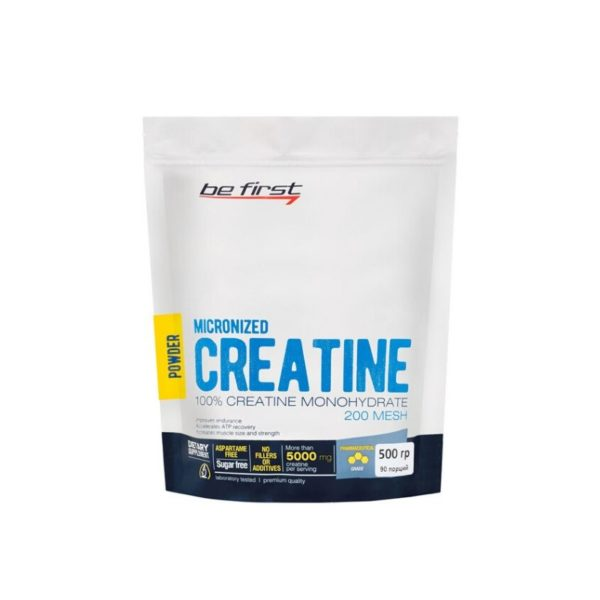 Креатин моногидрат Be First Creatine Monohydrate Micronized Powder 500 гр, без вкуса